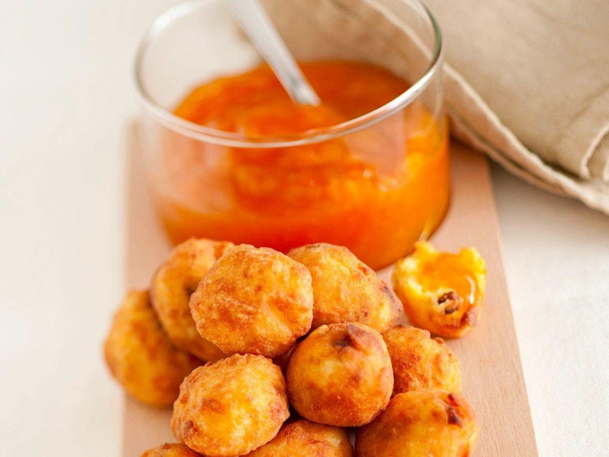 Polenta fritta dolce ripiena di confettura