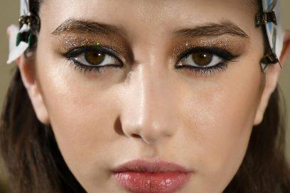 trucco occhi glitter