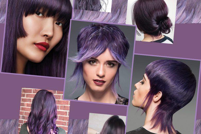 Capelli viola scuro: il colore su cui puntare nel 2018