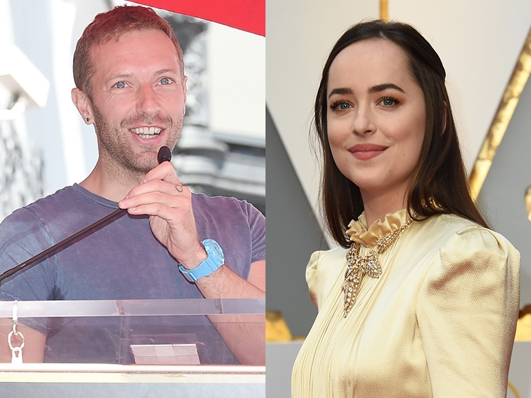 chris martin dakota johnson collage