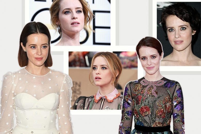 Claire Foy beauty look: trucco e capelli dell'attrice di The Crown
