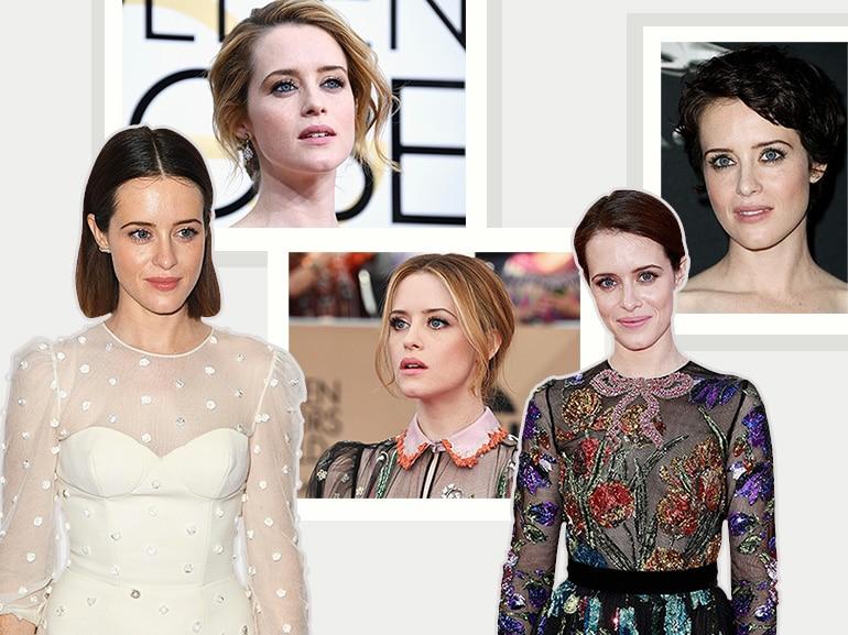 Claire Foy beauty look: trucco e capelli dell'attrice di The Crown