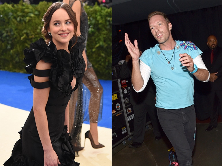 dakota johnson chris martin collage