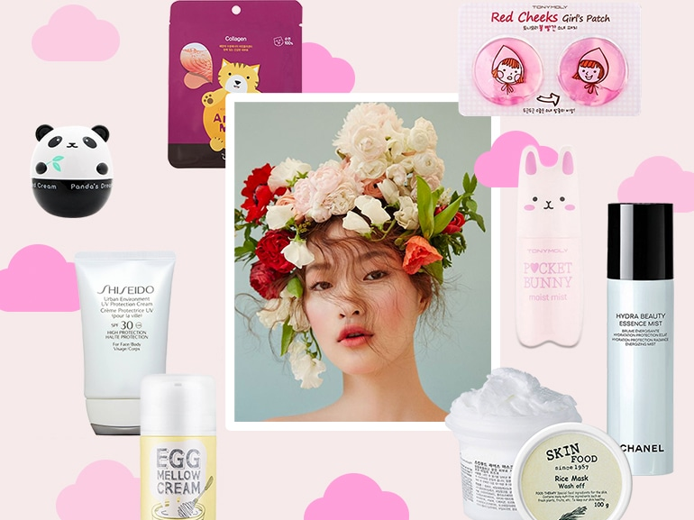 skin care coreana prodotti cura del viso korea collage mobile