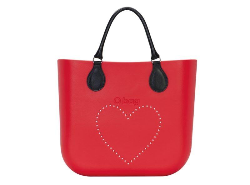 11. O Bag rossa cuore rivettato