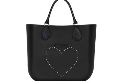 4. O bag nera cuore rivettato