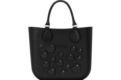 7. O bag mini cuori nera