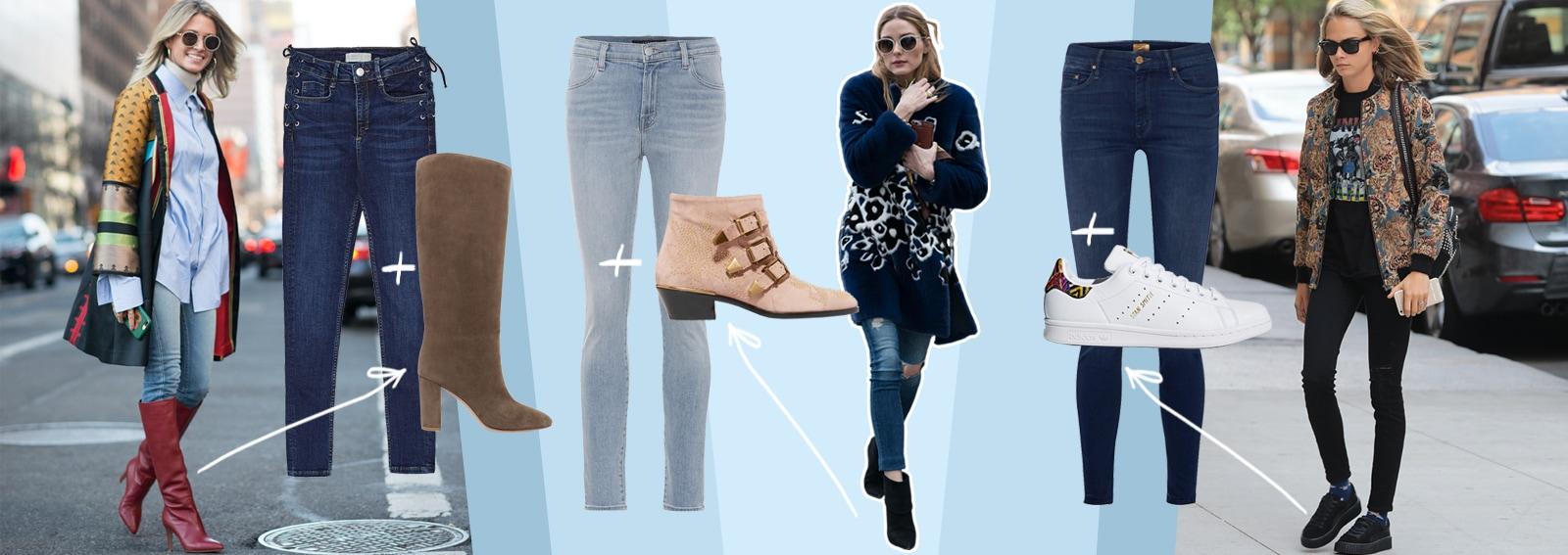 Skinny Jeans: le scarpe con cui indossarli