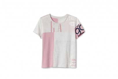 GAP-REMIX-CROP-PIECE-TEE,-Pink-Combo,-271885