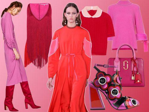 Rosso e Rosa  l abbinamento colore più cool della Primavera-Estate 2018 8dbc17ff689