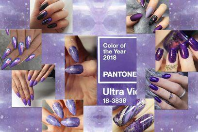 Nail art 2018: le unghie Ultra Violet nel colore dell'anno