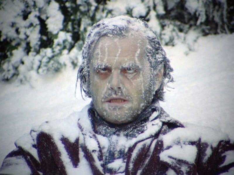 jack nicholson congelato shining