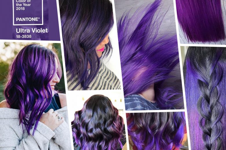 Ultra Violet hair: i capelli viola 2018 nel colore Pantone