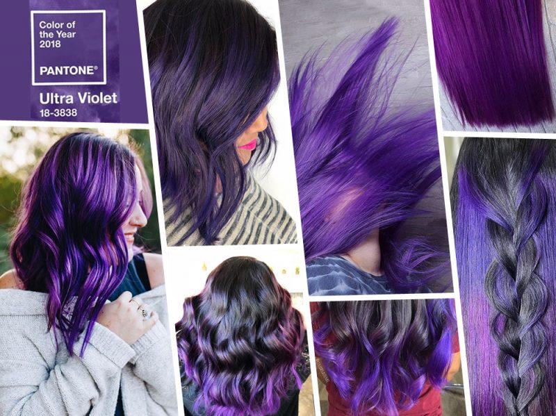 Ultra Violet hair i capelli viola 2018 nel colore Pantone EVIDENZA_ultraviolet