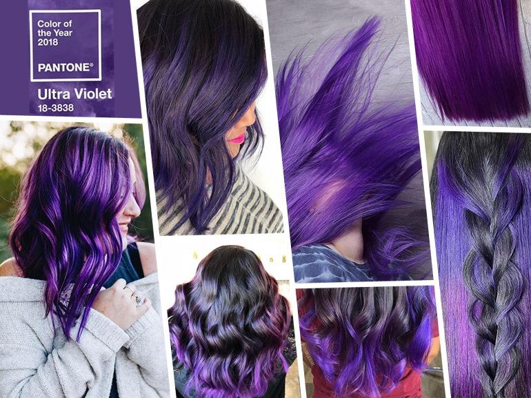 Ultra Violet hair i capelli viola 2018 nel colore Pantone MOBILE_ultraviolet