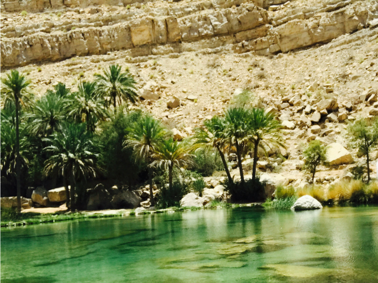 Viaggio in Oman Il refrigerio dei wadi il piu famoso in Oman Wadi Shab