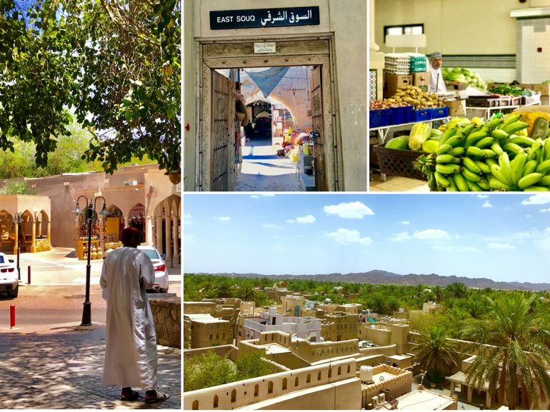 Viaggio in Oman Nizwa capitale culturale oasi nel deserto souq mercato forte di Nizwa