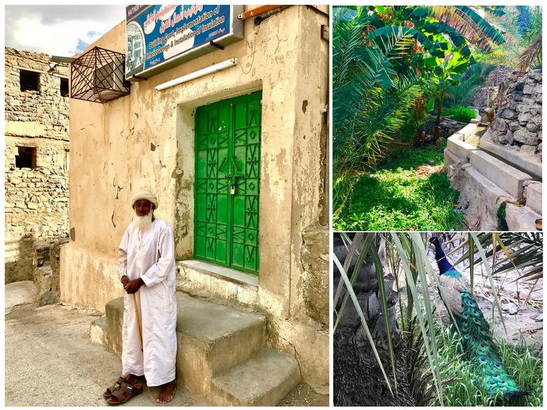 Viaggio in Oman tra Muscat e Nizwa villaggio di Misfat Al Abreen accessibile solo a piedi strette viuzze lo compongono piccole case tradizionali e vegetazione