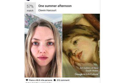 Come funziona l'app di Google che ti dice a quale quadro famoso assomigli