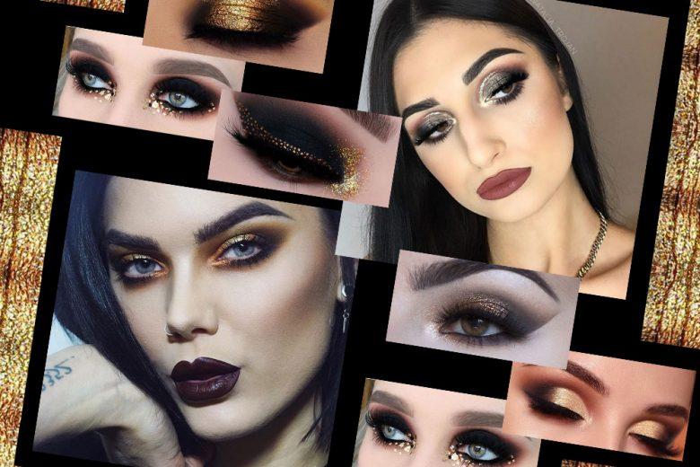 Smokey eyes nero e oro: le ispirazioni più belle da copiare
