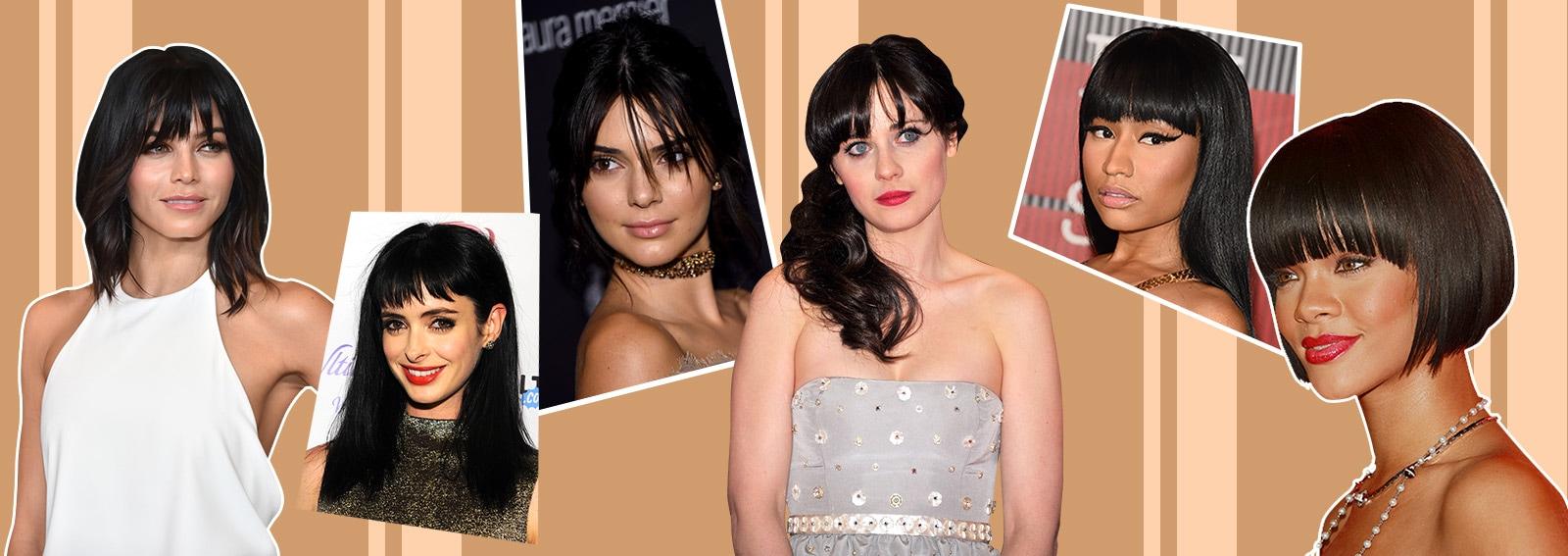10 look delle star che amano i capelli neri con frangia