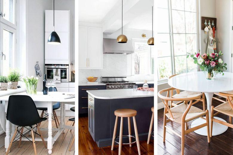 Come inserire il tavolo in una cucina piccola: 10 idee da copiare