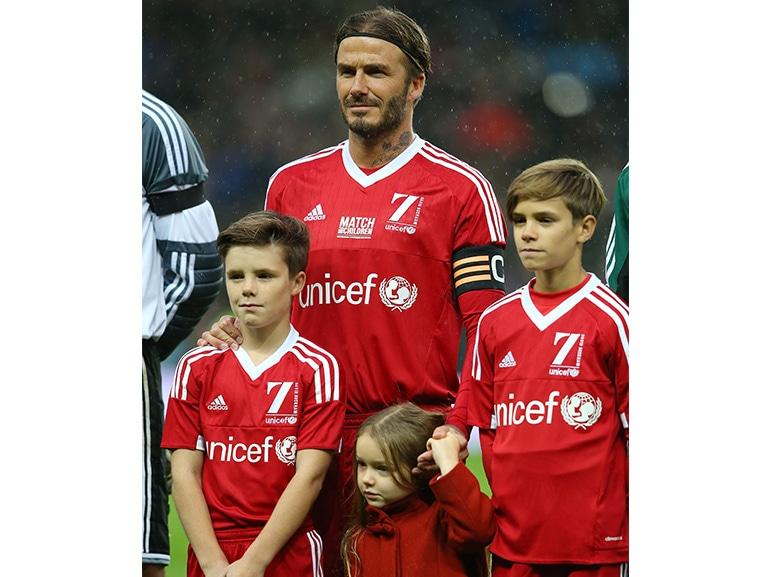 david beckham bambini calcio