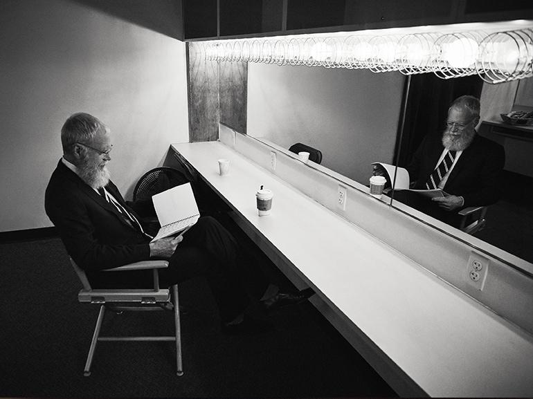 david letterman specchio