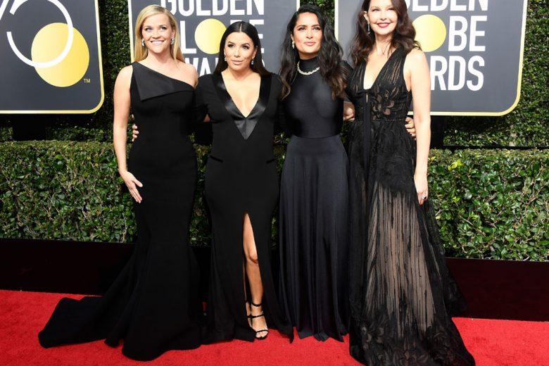 Golden Globes 2018: tutti i look, total black, delle star