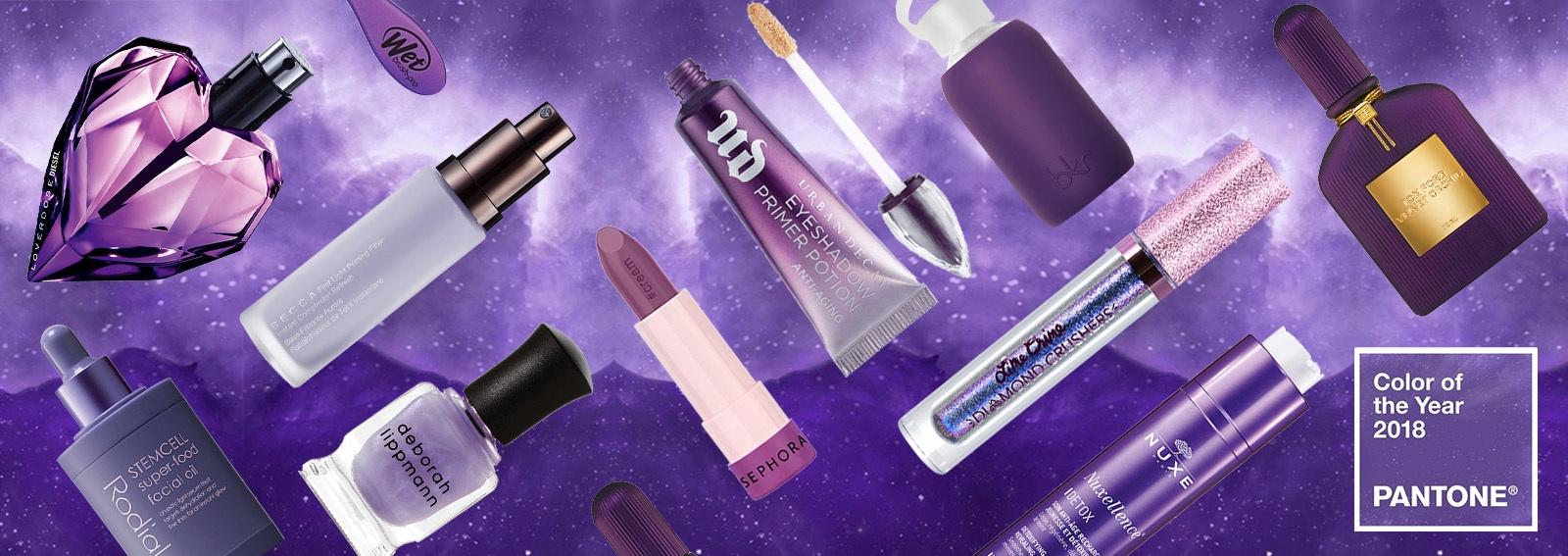 prodotti di bellezza ultra violet pantone viola 2018 collage_desktop
