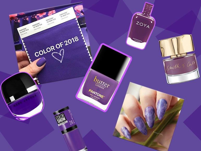 smalti viola ultra violet unghie 2018 collage collage mobile
