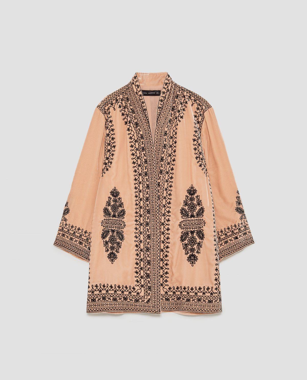 zara kimono velluto
