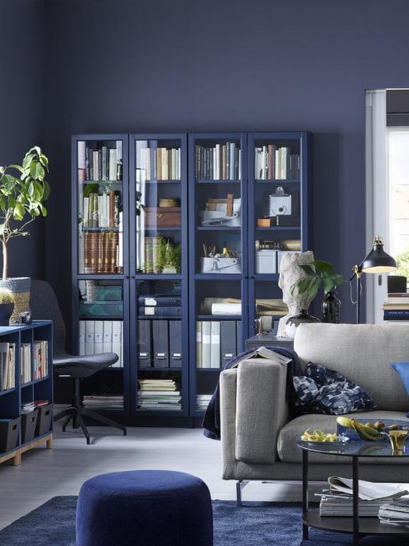 Blu polvere e grigio polvere