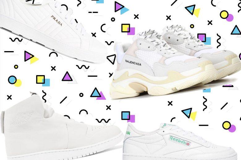 """Sneakers: la primavera è """"total white"""""""