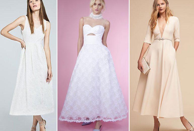"""Abiti da sposa """"midi"""": tutte le novità del 2018"""