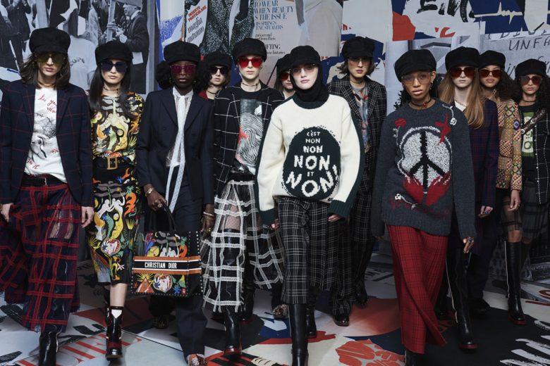 Dior, la moda in bilico tra femminismo e Sessantotto