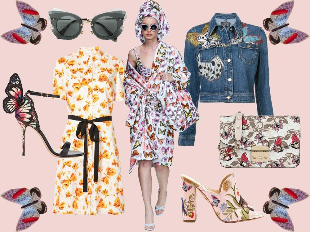 Farfalle: la tendenza romantica su vestiti e accessori della