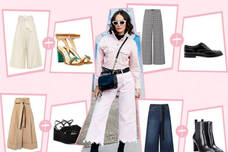 Pantaloni culotte: 7 modelli di scarpe cool con cui indossarli