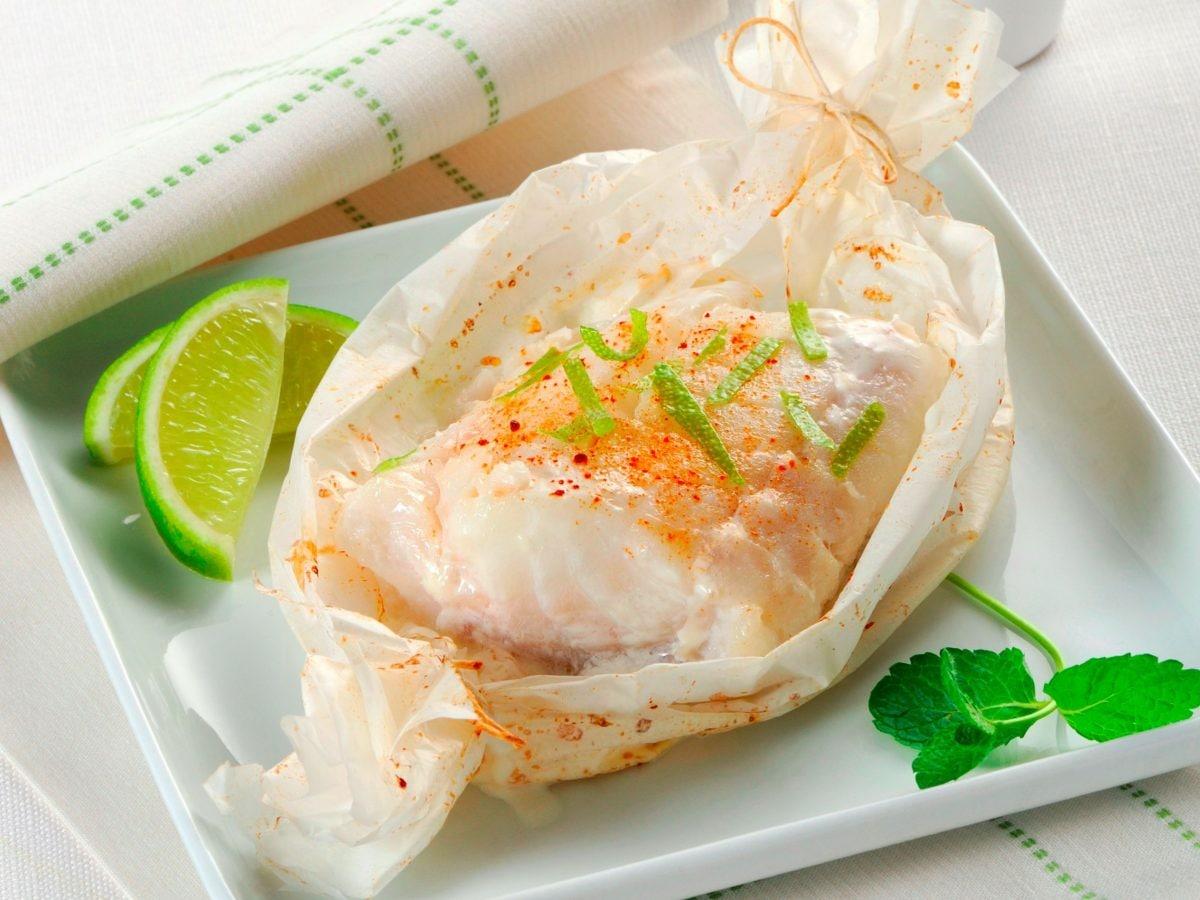 Filetti di merluzzo al forno con salsa alla menta
