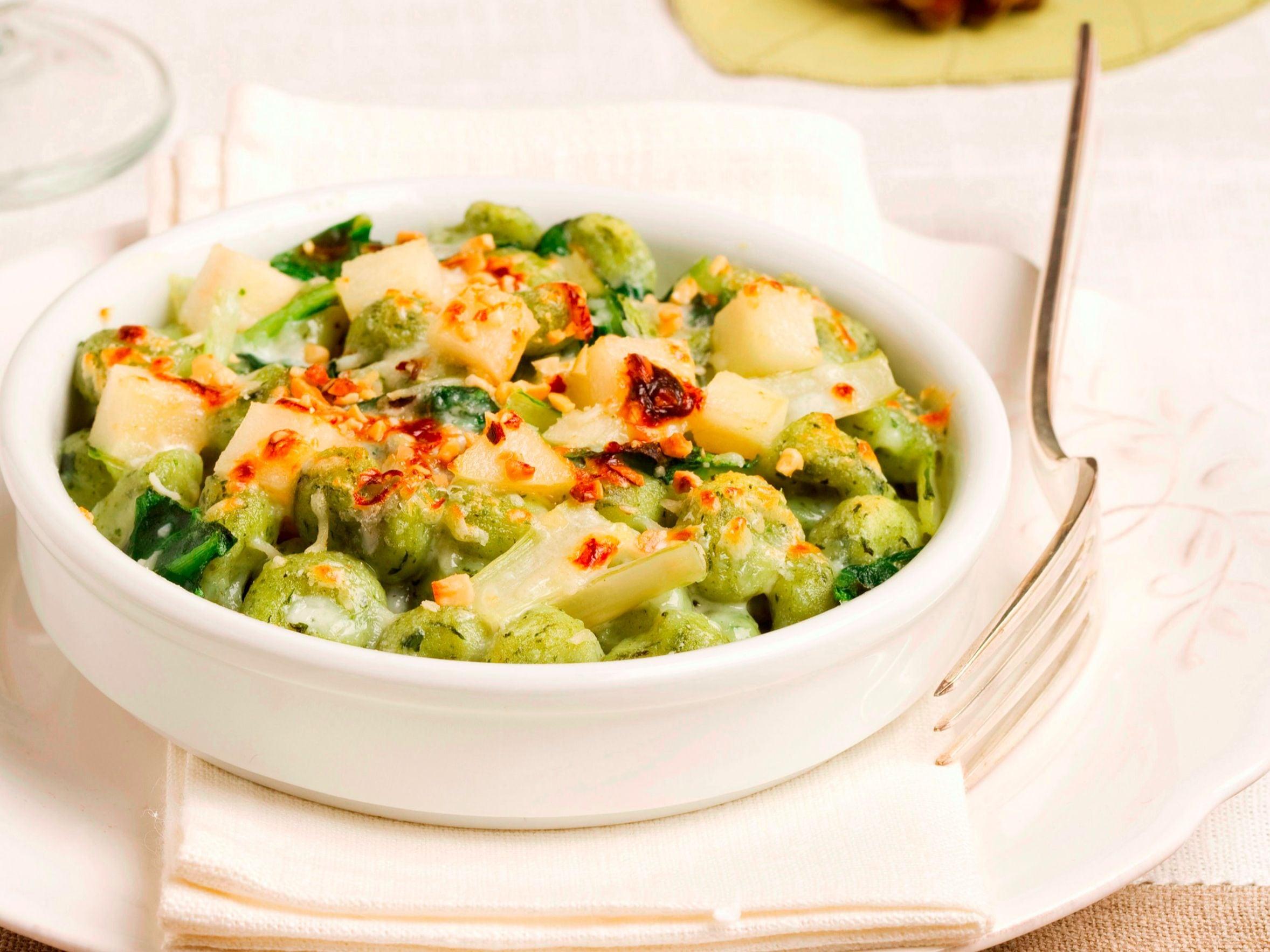 Gnocchi verdi con gorgonzola e pere(1)