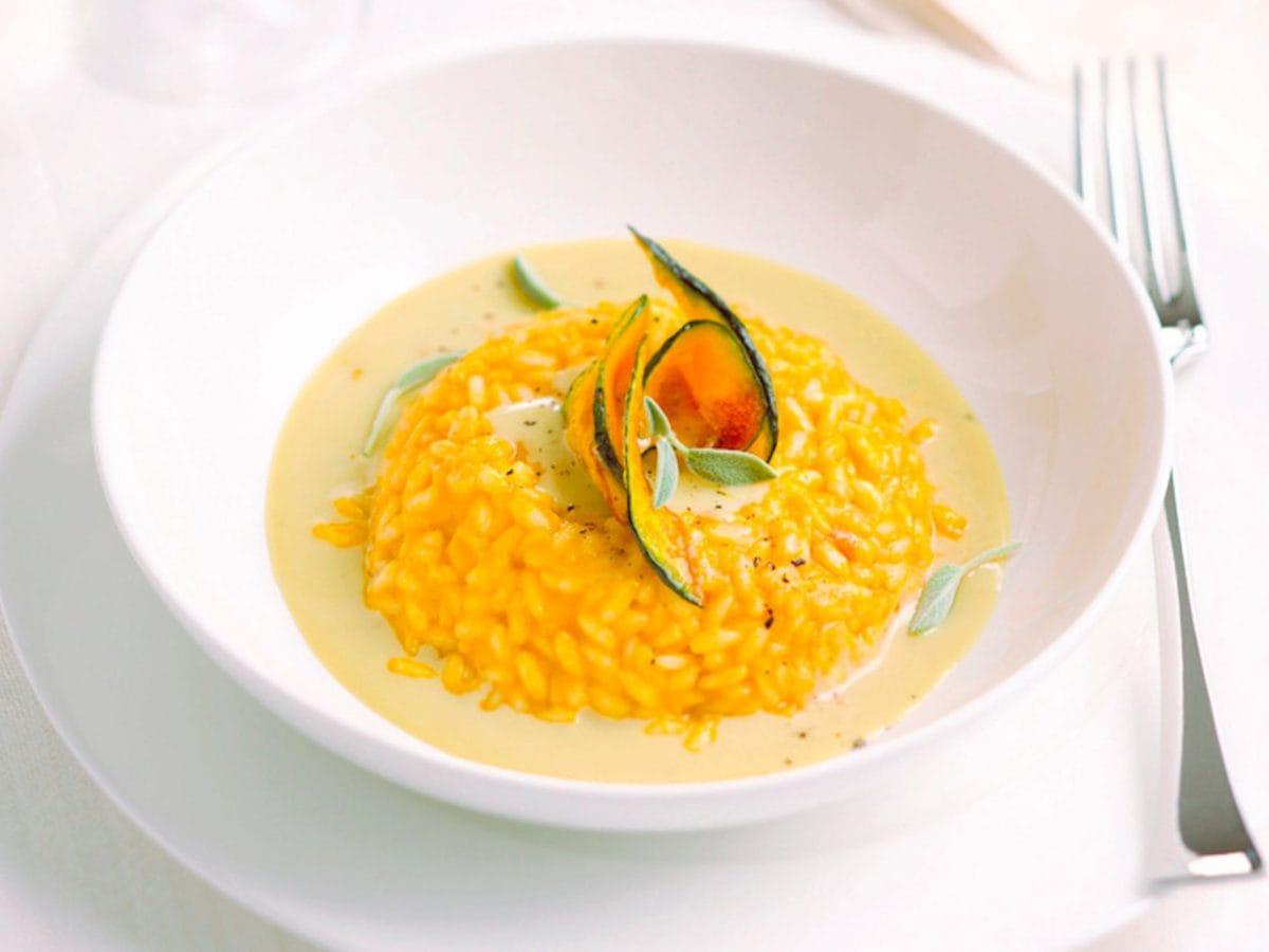 Risotto alla zucca con salsa di gorgonzola