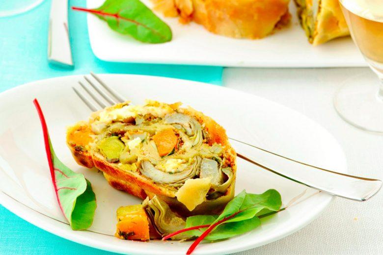 Strudel salato di verdure invernali