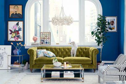 5 colori da abbinare nell'arredamento del salotto