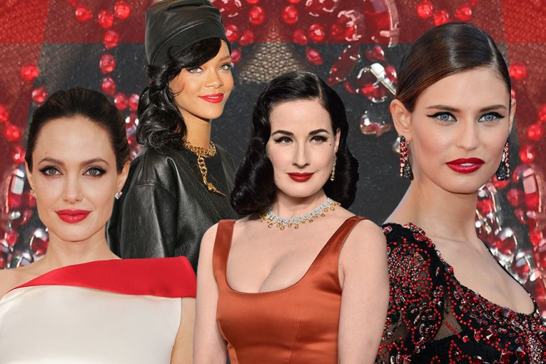 Trucco rossetto rosso e eyeliner nero: i beauty look delle star