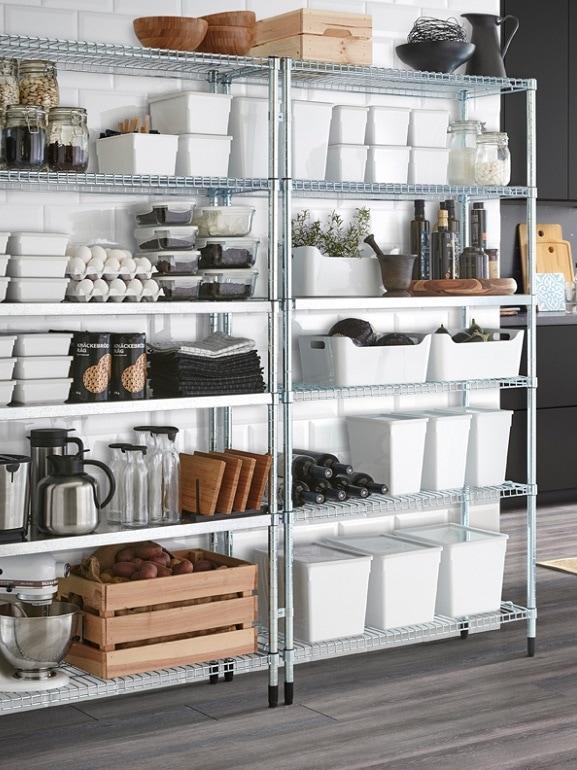 Idee per organizzare la dispensa con ikea for Scaffali per dispensa