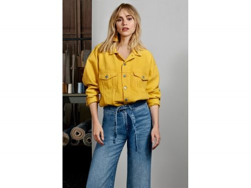 hm giacca jeans bianca