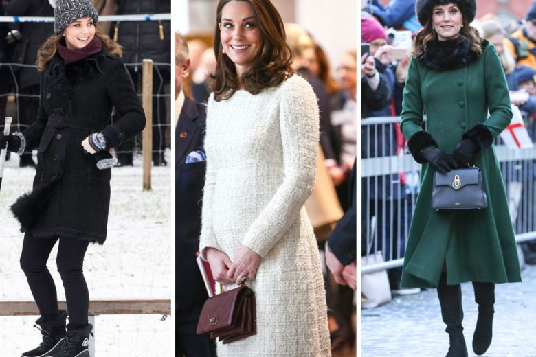 Kate Middleton e il suo stile premaman sbarcano in Svezia