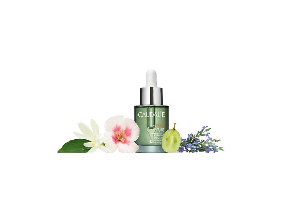 skincare-floreale-i-fiori-e-le-loro-proprieta-per-il-viso-CAUDALIE VINEACTIV OVERNIGHT DETOX OIL INGREDIENTS