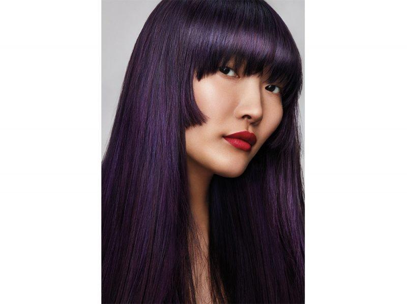 AVEDA tendenze frangia lunga capelli saloni primavera estate 2018