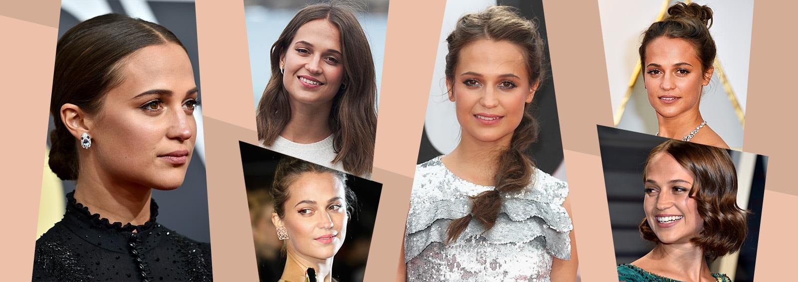 Tutti i migliori beauty look di Alicia Vikander, la nuova Lara Croft
